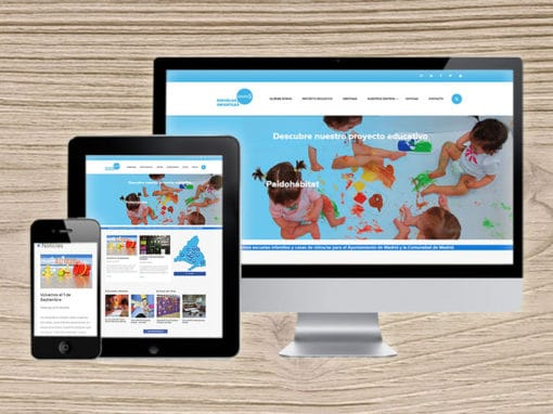 WordPress project Escuelas infantiles Madrid
